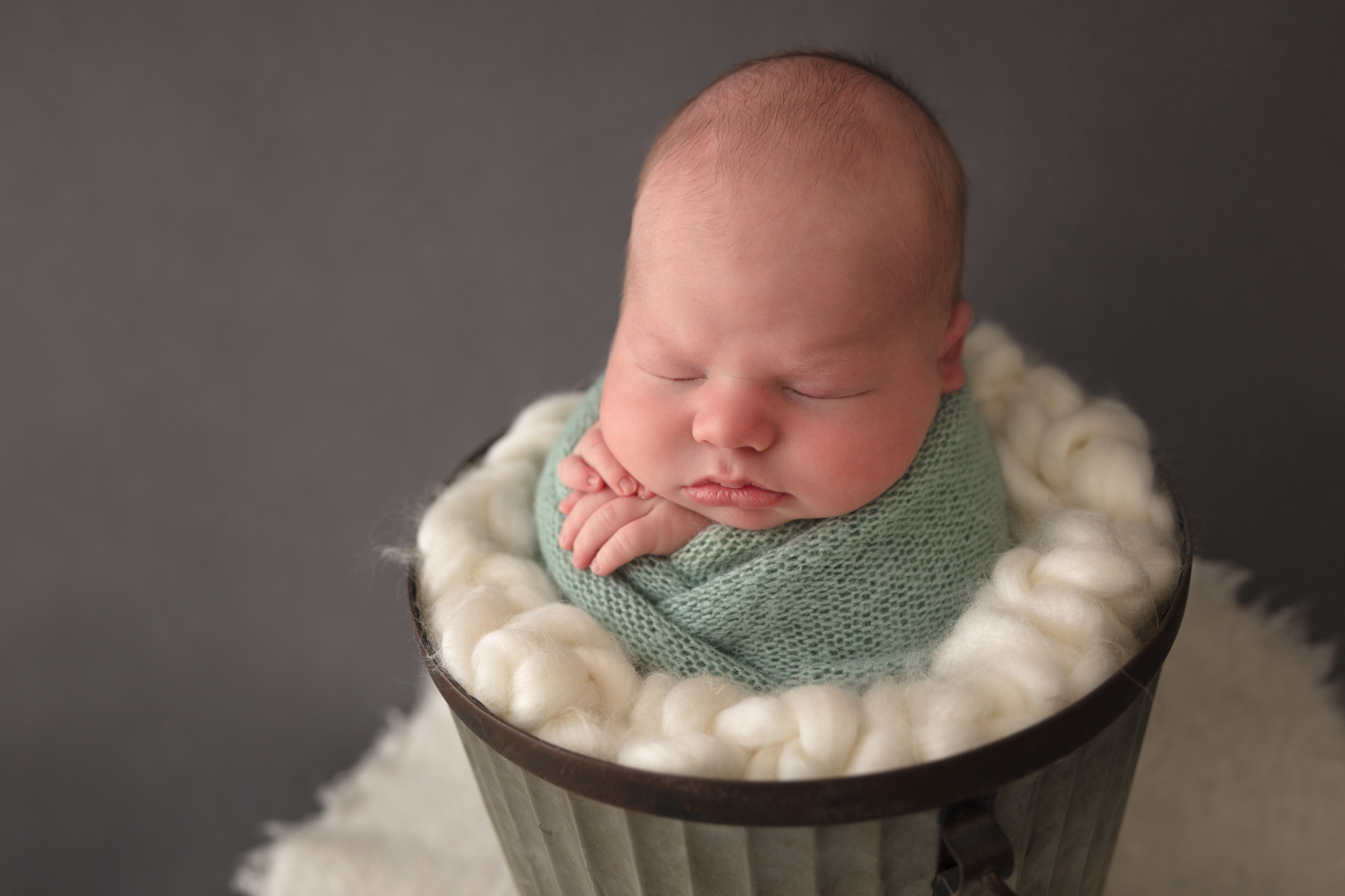 cute-boy-wrapped-newborn-photography